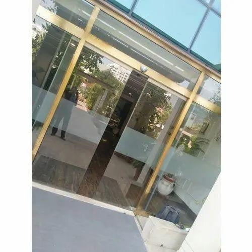 Brass Frame Sliding Glass Door