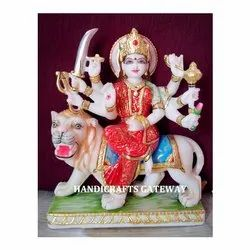 Beautiful Marble Durga Mata Statue