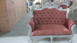 Wooden Carved Two Seater Sofa