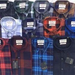 Cotton Collar Neck Mens check shirt