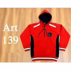 Red School Uniform Hooded Sweatshirt