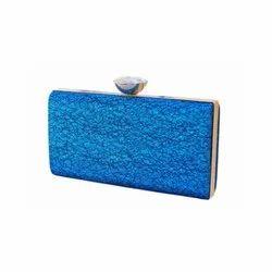 Azzra Blue Box Clutch
