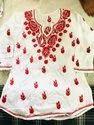 Khadi Cotton Chikan Work Kurti