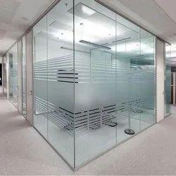 Transparent Plain Glass Partition