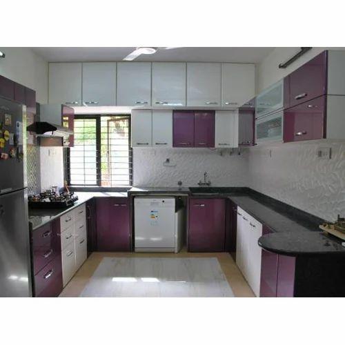 Kitchen Designs U Shaped: Modern U Shape Modular Kitchen, Rs 50000 /set, Kraft