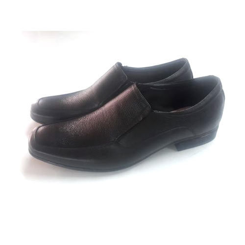Mens Leather Black Slip On Formal Shoes, Size: 6 to 11