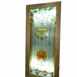 8 - 10 Feet (l) Printed Designer Door Glass