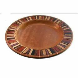 Round Wooden Plate, For Home, Size/Dimension: 10 - 18 Inch (diameter)