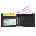 LWFM00160 Black With Red Mens Leather Wallet