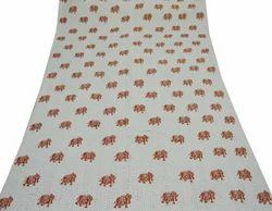 Cotton Kantha Quilt Animal Print