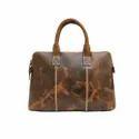 Velvet Interior 15 Inches Hunter Brown Genuine Leather Messenger Laptop Case