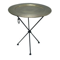 Stainless Steel Round Table, Metal