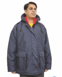 V Polyester Freezer Jacket With Hood (3M Thinsulate), Size: XL