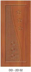 Glossy DD-2D 02 Designer Wooden Door, For Home, Size/Dimension: 7 X 3.5 Feet