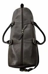 MON EXPORTS Brown Genuine Leather Duffle Bag, for Travel