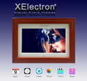 Xelectron 10-inch Fully Functional Led Lcd Bis Certified Wooden Digital Photo Frame With One Year W