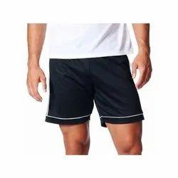 Polyester Black Soccer Shorts