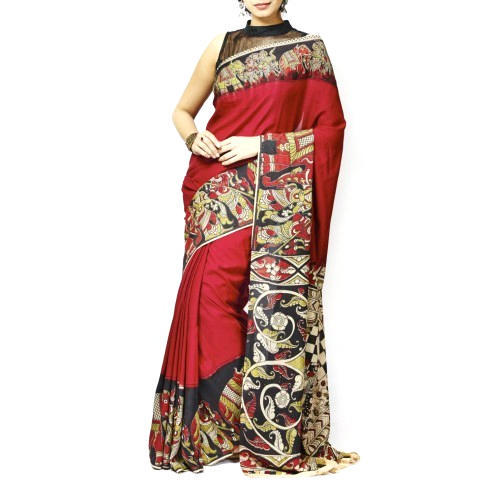 a52c1419e36072 Kalamkari Cotton Saree at Rs 1250 /piece | Chittethukara | Kochi ...