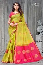Aura Present Premier Vol 5 Chanderi Designer Fancy Saree