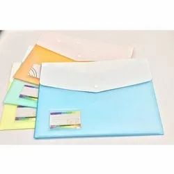 Double Pocket Button File Folder