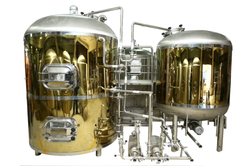 Commercial Brewing Equipment Gold Titanium Brew House At