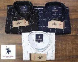 US Polo Collar Neck Mens Shirt