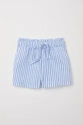 Organic Cotton Seer Sucker Stripes  Kids Shorts