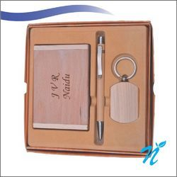 3 Pc Wooden Gift Set