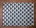 Handwoven Grey Cotton Panja Durrie Rug