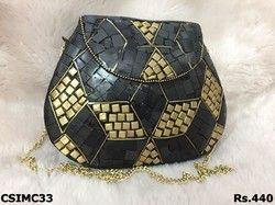 Black Mosaic Clutch