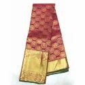 Silk Designer Handloom Saree, Construction Type: Hand