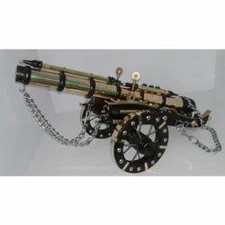 Wooden Brass Decorative Canon