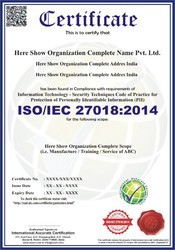 ISO/IEC 27018:2014 Certification and Consultancy Service