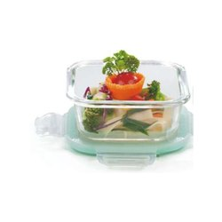 Lock N Store Glass Container Square, Size: 2200ml