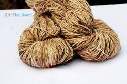 Unique Textured Hand Spun Red Silk Yarn