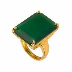 Green Onyx Gemstone Ring Asthdhatu Gemstone