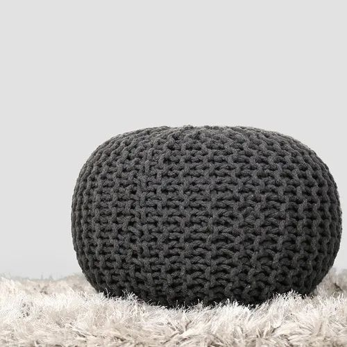 Remarkable Cotton Woven Round Home Decor Decorative Multi Color Pouf For Seat Pdpeps Interior Chair Design Pdpepsorg