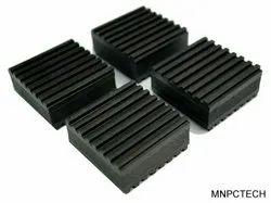 Black ANTI VIBRATION RUBBER PADS, Size: 4'', 6'', 12''