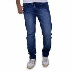Comfort Fit Party Wear Mens Blue Denim Jeans, Waist Size: 28-32