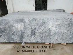 Polished Viscon White Granite, For Flooring, Thickness: 15-20 mm