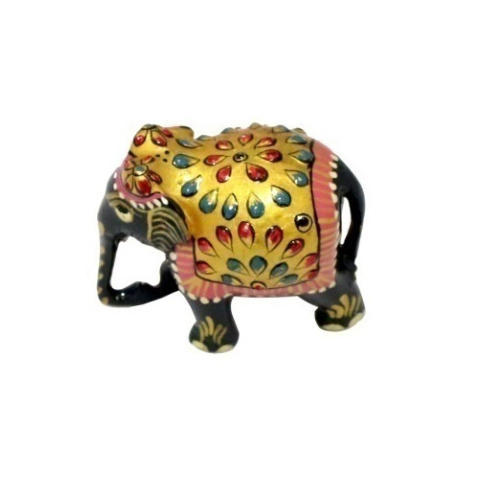 Small Elephant Decor: Wooden Multi Color Small Elephant, For Home Decor, Rs 150