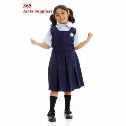 Cotton Plain Blue White School Uniform
