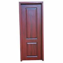 Hinged Coated Wooden PVC Door, For Home, Exterior