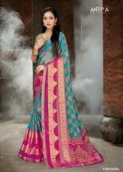 Antra Lifestyle Maher Vol 3 Brasso Printed Exclusive Fancy Saree
