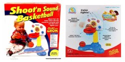 Mix Colour Shoot' N Sound Basketball, With Battery