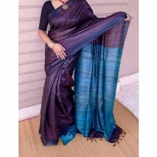 Bridal Wear Plain Raw Silk Saree