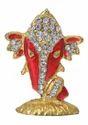 Diamond Red Decorative Ganesh Face Handicrafts