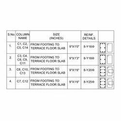 Column Reinforcement Schedule Designing Service