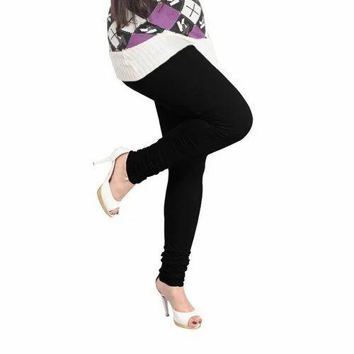 aebef6edcc6dc Black 95% Cotton And 5% Spandex Lux Lyra Churidar Legging, Rs 235 ...