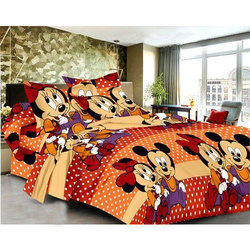 Mickey Mouse Printed Cotton Bed Sheet